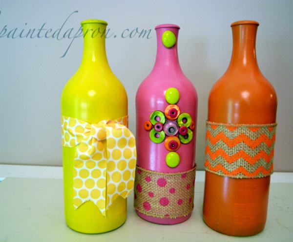 beribboned bottles thepaintedapron.com