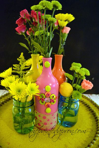 bling vase centerpiece thepaintedapron.com