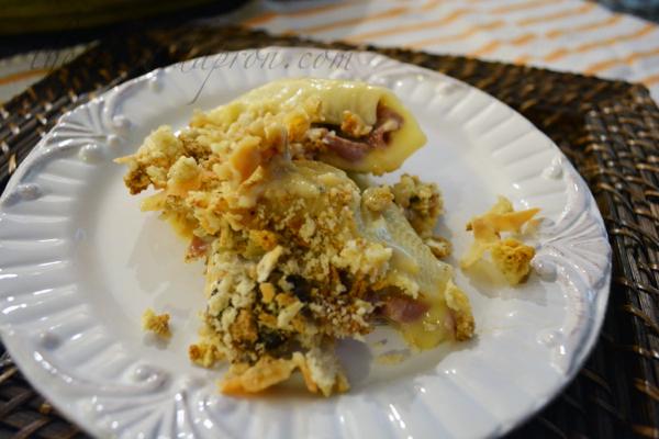 chicken cordon bleu pasta shells 1 thepaintedapron.com