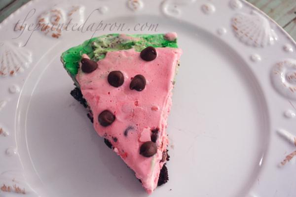 chocolate chip watermelon pie thepaintedapron.com