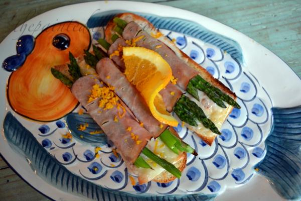 ham asparagus rolls with orange zest thepaintedapron.com