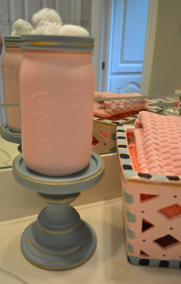 cotton ball jar thepaintedapron.com