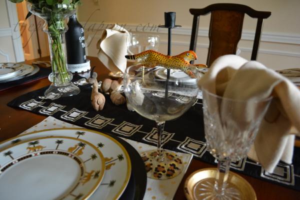 leopard glass thepaintedapron.com