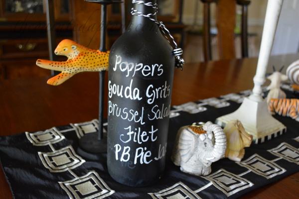 menu bottle thepainteapron.com