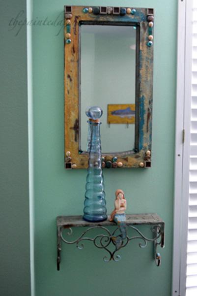 mirror and shelf thepaintedapron.com