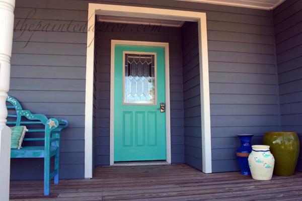 turquoise door thepaintedapron.com
