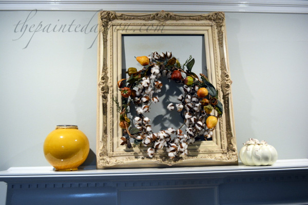 cotton and gourd wreath thepaintedapron.com