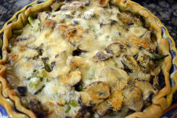 ham mushroom alfredo pot pie thepaintedapron.com