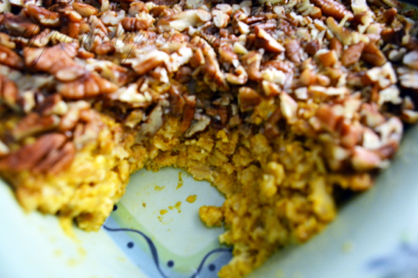 pumpkin pie oatmeal thepaintedapron.com 1