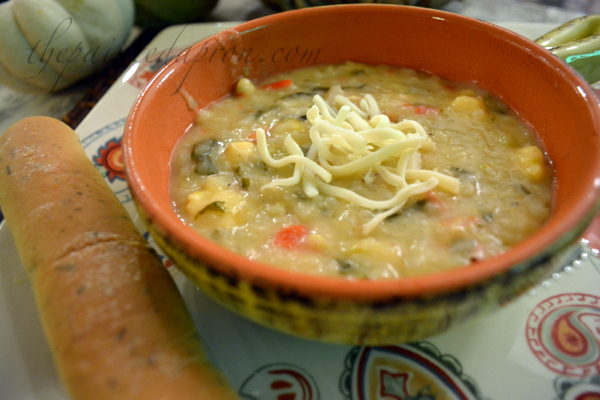 beer cheese veggie chowder thepaintedapron.com