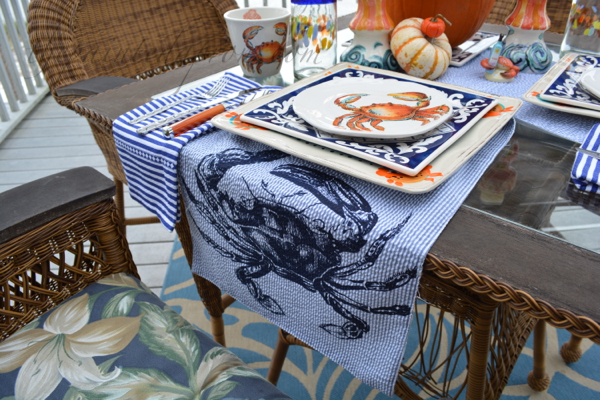 crab place setting