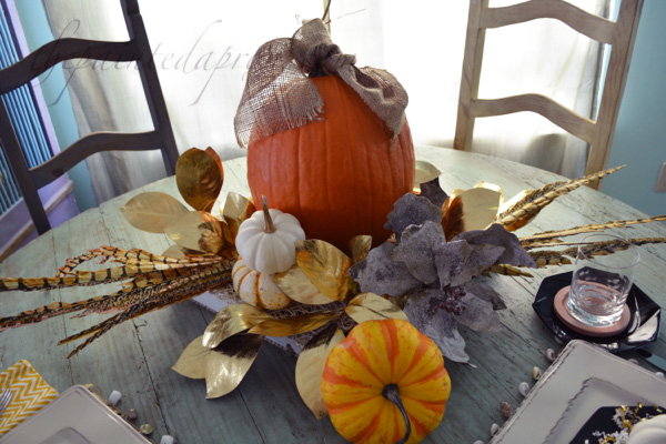 proud pumpkin centerpiece