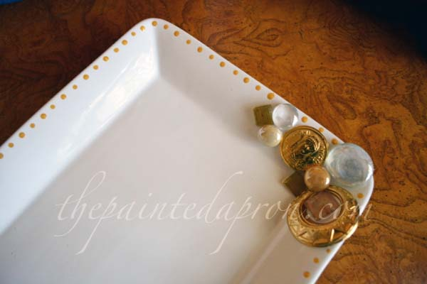 contempory gold tray