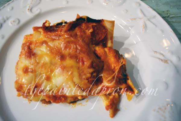 gruyere, prosciutto and eggplant lasagna