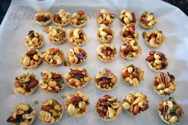 mixed nut tarts