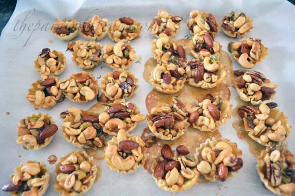 nutty rosemary tartlettes