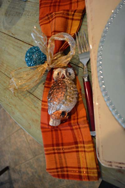 owl ornament napkins