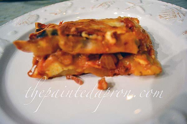 prosciutto & gruyere lasagna