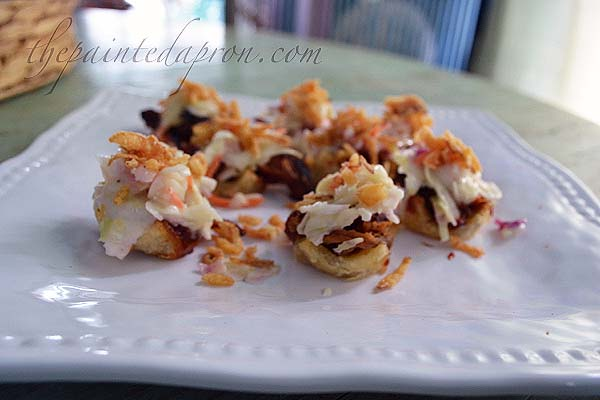 BBQ cupcake bites