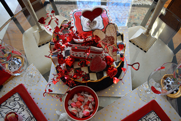 King & Queen of hearts table