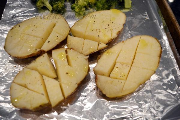 open face potatoes