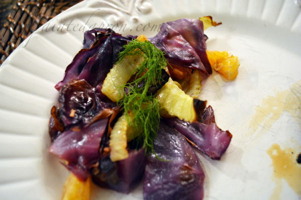 roasted fennel and red cabbage citrus salad