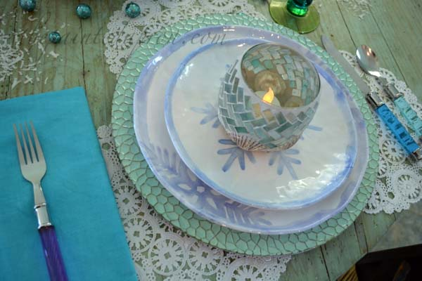 snowflake placesetting