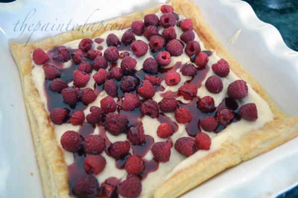 lemon raspberry pastry