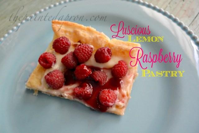 luscious lemon raspberry pastry