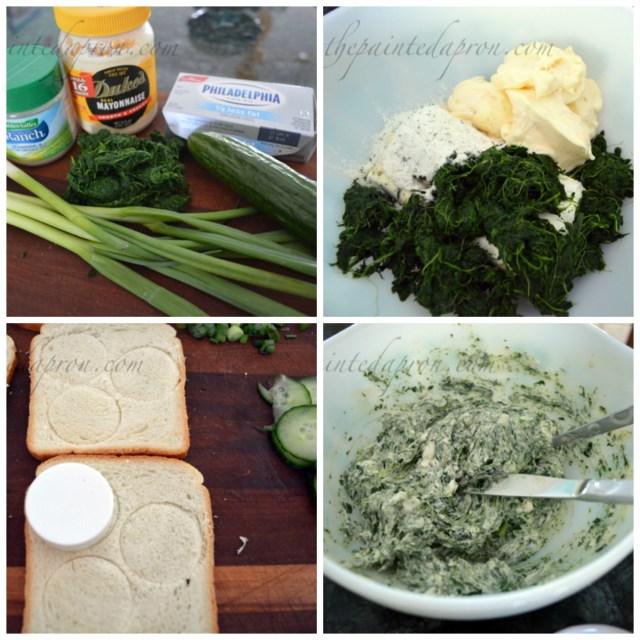 cucumber spinach sandwiches