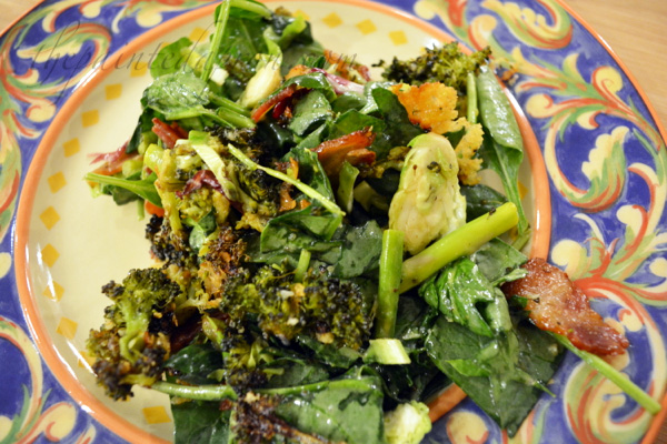 vegetable salad with warm dijon dressing