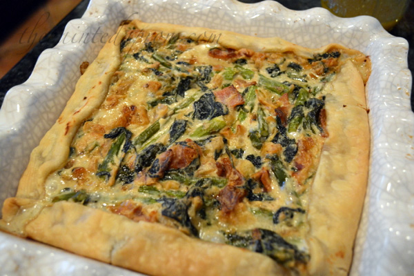 asparagus and spinach galette