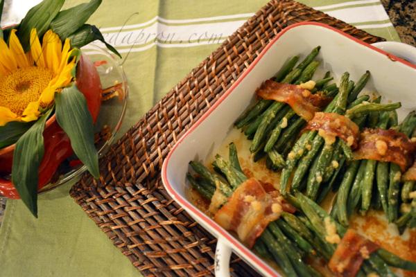 savory green bean bundles