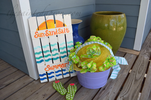 summer sign and May day basket