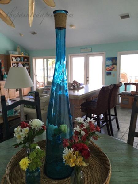 tall bottle centerpiece