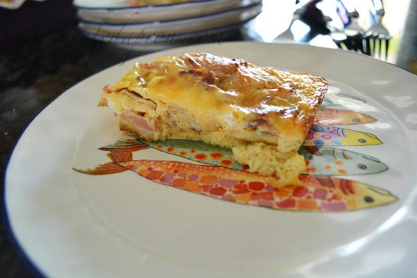 almond danish, bacon & eggs