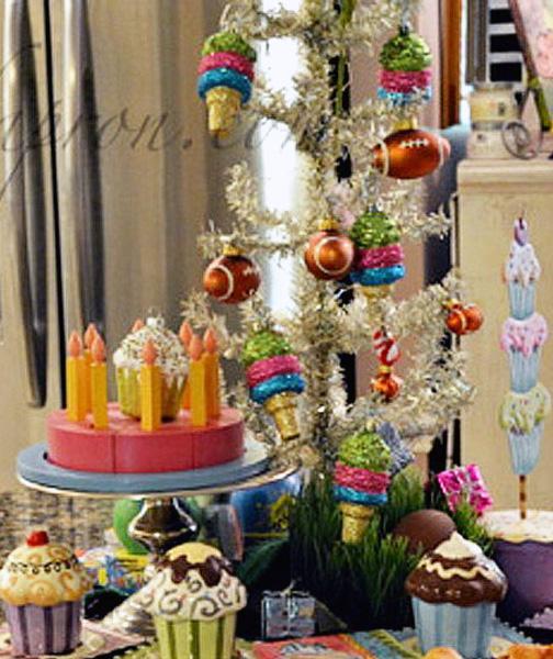 birthday buffet centerpiece