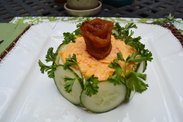 chicken salad luncheon cake