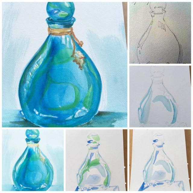 bottle collage