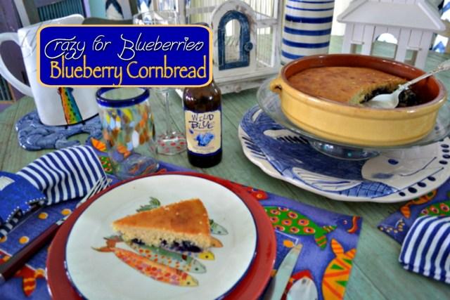 blueberry cornbread table