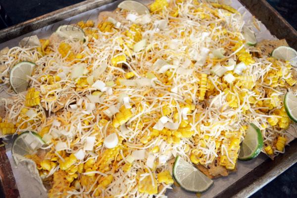 cheesy corn nachos
