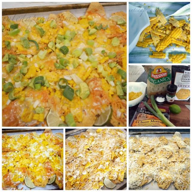 Chili Lime Corn Queso nachos