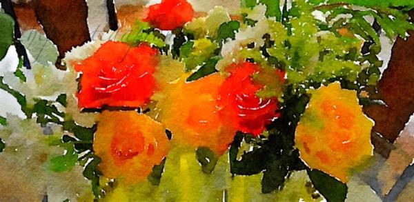 "Preset Style = Vibrant Format = 8"" (Large) Format Margin = None Format Border = Straight Drawing = #2 Pencil Drawing Weight = Medium Drawing Detail = Medium Paint = Natural Paint Lightness = Darkest Paint Intensity = More Water = Tap Water Water Edges = Medium Water Bleed = Average Brush = Natural Detail Brush Focus = Everything Brush Spacing = Narrow Paper = Watercolor Paper Texture = Medium Paper Shading = Light Options Faces = Enhance Faces"