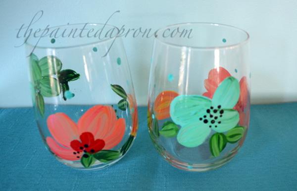 poppy stemless glasses