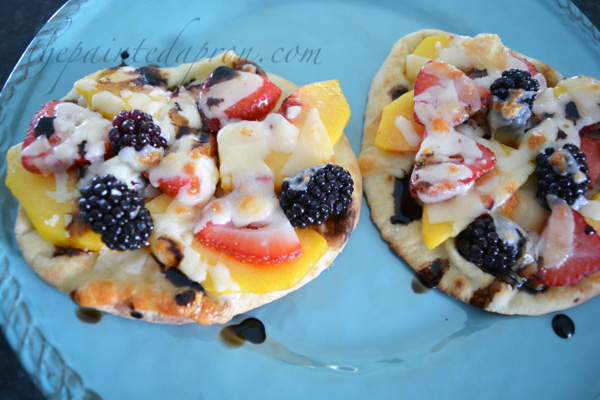 balsamic & basil fruit pizza