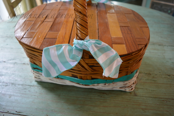painted picnic basket