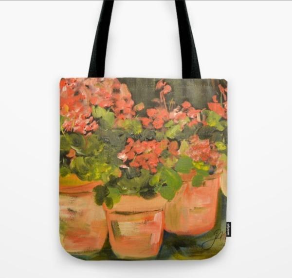 geranium-tote