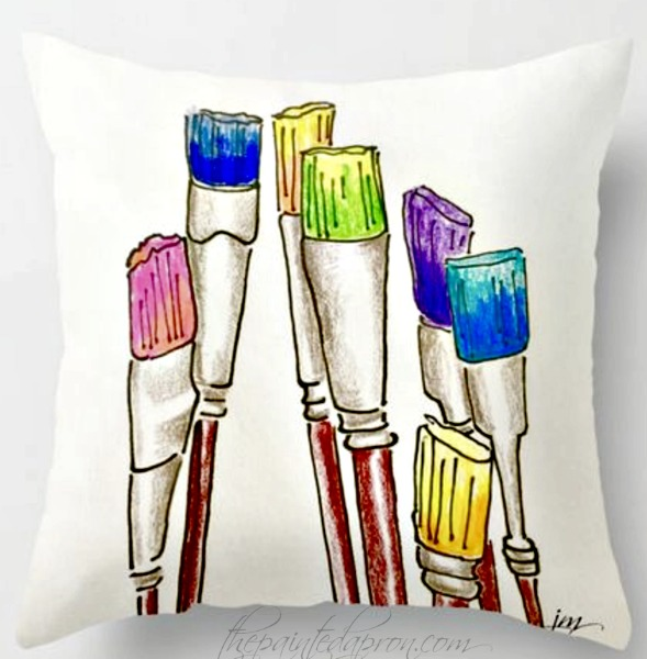 brushes-pillow