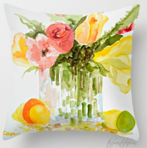 watercolor-bouquet-pillow