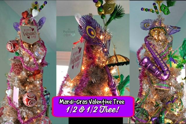 mardi gras valentine tree, 12 & 12